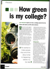How Green is my College?