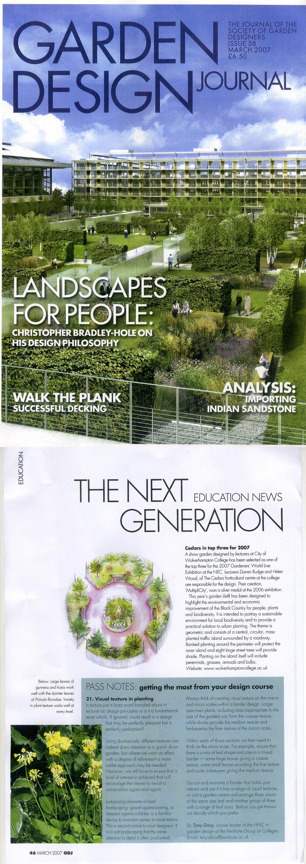 News Press Darren Rudge Landscape Garden Designer